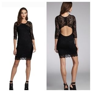 Intermix/Gilber Gilmore Open Back Lace Dress XS